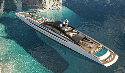 Sunrise, the largest open superyacht on the planet